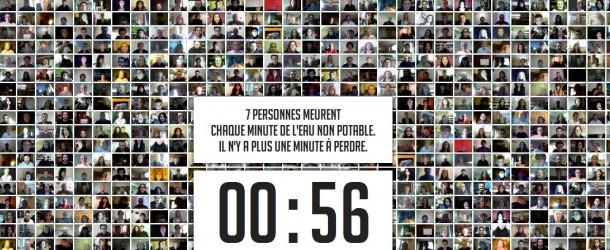 La plus grande minute de silence du monde pour les victimes de l'eau