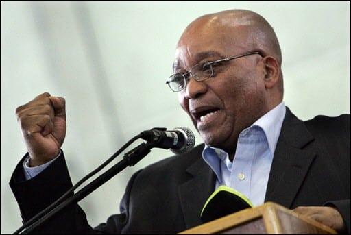 Jacob Zuma, le president de l'Afrique du Sud