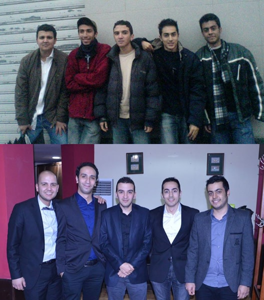 Hichem Soudah, Amine Benmouffok, Ahmed Bouaouina, Mehdi Mounis Bouzid et Djamel Eddine Dib