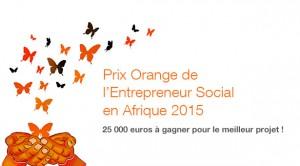 Prix de l'entrepreneur social par Orange 2015