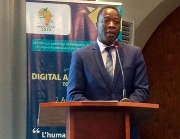 Eric Adja, Directeur du bureau régional pour l'Afrique de l'Ouest (BRAO) de l'OIF, en charge de la coordination du symposium d'Aneho et de la mise en place de l'AFRIA (à l'IT Forum 2019 à Lomé).